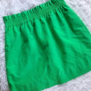 "J Crew Linen Green ""City"" Skirt"